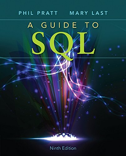 A Guide to SQL by Cengage Learning