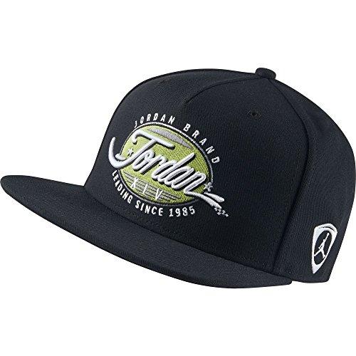 Nike Retro Hat - Nike Air Jordan 14 Retro Basketball Cap Hat Mens Black Green 801775-010 One Size Fits All