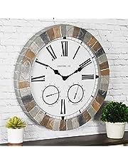 FirsTime 99670 Garden Stone Outdoor Wall Clock Faux Slate