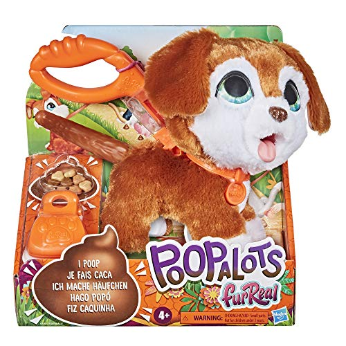 furReal Poopalots Big Wags Interactive Pet Toy, Connectible Leash System, Ages 4 and Up