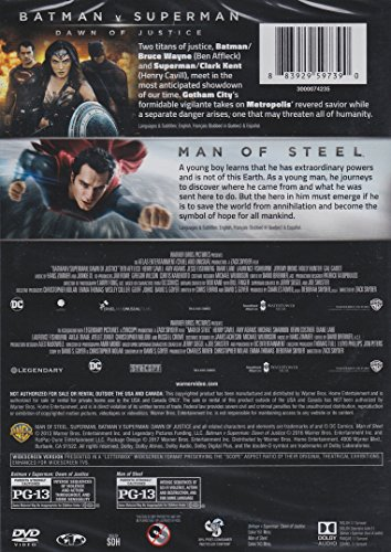 Batman v Superman Dawn of Justice / Man of Steel 2-Film Collection