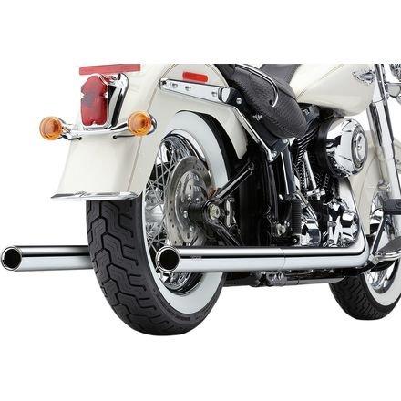 Cobra 630076 True Dual Billet Tip Exhaust System (H-D Softail ()