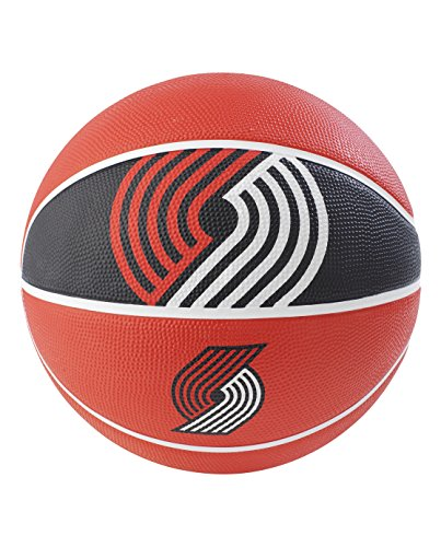 Spalding NBA Portland Trail Blazers NBA Courtside Team Outdoor Rubber Basketballteam Logo, Red, 29.5'' by Spalding