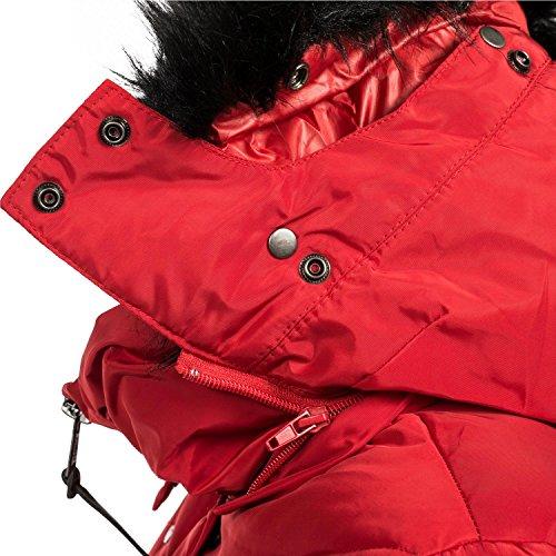 XS de Mujer Vanilla XXL Colores Chaqueta Marikoo Invierno 11 para Rojo Guateada Cx6xqtwz