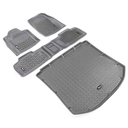 Rugged Ridge All-Terrain 14988.24 Gray Front, Rear and Cargo Floor Liner Kit For Select Jeep Grand Cherokee Models