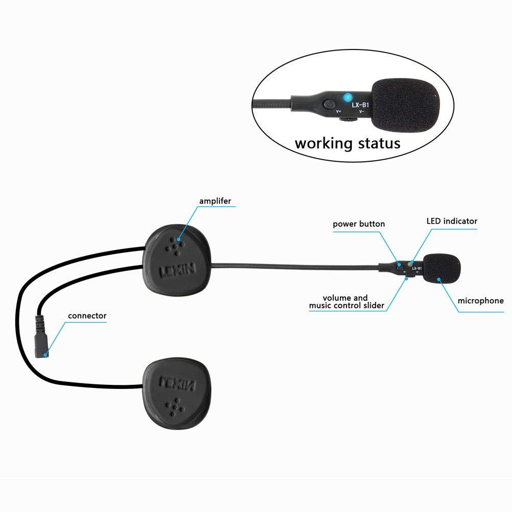 Wireless Bluetooth Headset Helmet Audio for Motobike//Skiing LEXIN 1pcs LX-B1 Motorcycle//Bicycle Outdoor Helmet headphones Handsfree Helmet Speakers with Microphone
