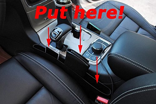 Jeep Grand Cherokee Glove Box (Nicebee 2pcs Car Seat Filler Space Padding Crack Cover Leak Stop Storage Box Organizer For Jeep Grand Cherokee 2014-2016)