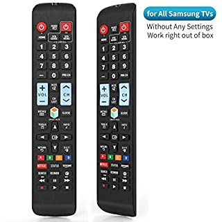 Universal Remote Control for Samsung TV Remote, Samsung Smart TV Remote, All Samsung LCD LED QLED SUHD UHD HDTV 3D Smart TVs