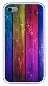 iPhone 4S Case,Colorful world TPU Custom iPhone 4/4S Case Cover Whtie