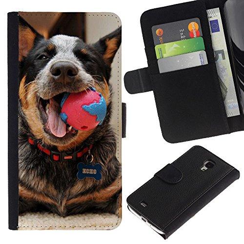 Be Good Phone Accessory // Caso del tirón Billetera de Cuero Titular de la tarjeta Carcasa Funda de Protección para Samsung Galaxy S4 Mini i9190 MINI VERSION! // Australian Cattle Dog