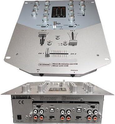 DJ503U mesa de mezclas 4 canales + 1 micro + 2 PC USB: Amazon.es ...