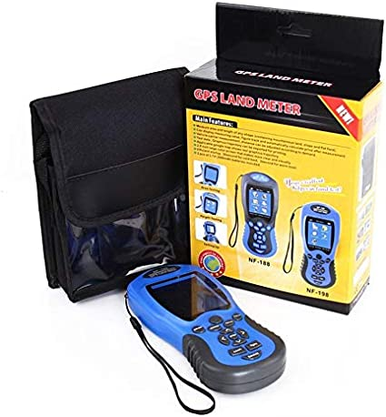 Dispositivos de Prueba GPS NF-198 Medidor GPS terrestre Pantalla LCD Valor de medición Figura Área de topografía y mapeo de Tierras agrícolas Medición-Azul-1 Tamaño