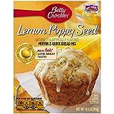 Betty Crocker Muffin & Quick Bread Mix Lemon Poppy Seed 14.5 oz Box (pack of 12)