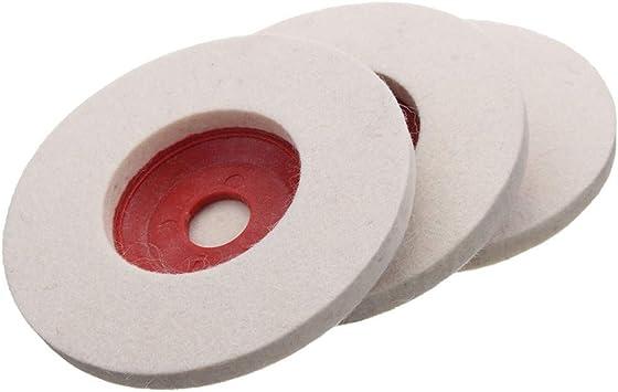 3Pcs 100mm 4 Inch Wool Buffing Angle Grinder Wheel Felt Polishing Disc Pad