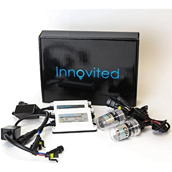 "Innovited AC 55W HID Xenon Conversion Kit With ""Slim"" ballast - H11 H9 H8 - 5000K - 2 Bulbs & 2 Ballasts"