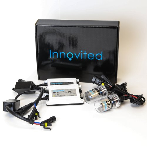 "Innovited AC 55W HID Xenon Conversion Kit With ""Slim"" ballast - H11 H9 H8 - 6000K - 2 Bulbs & 2 Ballasts"