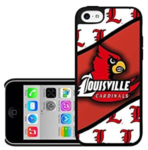 Louisville Cardinals Red and White Sports Football Team Hard Cell Phone Case Cover iPhone (5c)