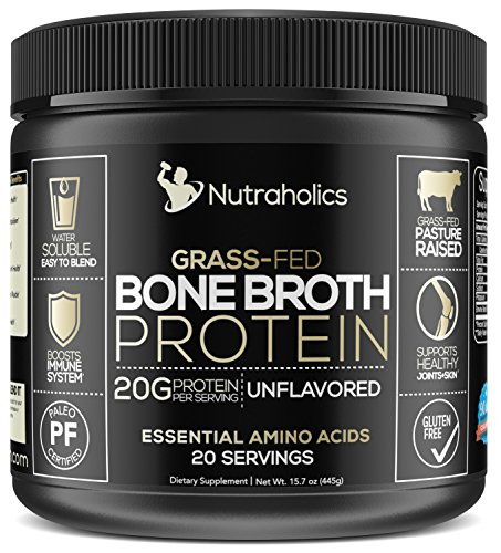 Bone Broth Protein Powder, Certified Paleo & Keto Friendly | 20 Grams of Protein per Serving | Unflavored and Easy to Mix