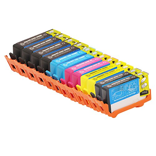 INKUTEN Remanufactured Ink Cartridge Replacement for New Generation Hewlett Packard HP 564XL (4 Black, 2 Cyan, 2 Magenta, 2 Yellow, 2 Photo Black) 12-Pack CN684WN CN685WN CN686WN CN687WN CB322WN Compatible With Photosmart B8500 B8550 B8553 B8558 C5300 C5324 C5370 C5373 C5380 C5383 C5388 C5390 C5393 C6300 C6324 C6340 C6350 C6375 C6380 C6383 C6388 D5400 D5445 D5460 D5463 D5468 D7500 D7560 Premium C309 C310 C410 C510 7510 7515 7520 7525 e-All-In-One Printer