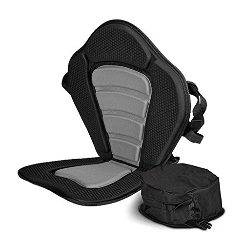 Vibe Kayaks Deluxe Padded Kayak Seat | Deluxe Sit-On-Top Cushioned Back Support Kayak/Canoe Seat ()