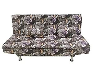 NORDIC BLACK AND FLOWER MIXED FABRIC SOFA BED 007