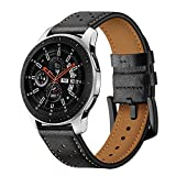Genuine Leather Watch Straps for Samsung Galaxy Watch 46mm Bands/Samsung Gear S3 Frontier/S3 Classic Bands Bracelet Mens Womens