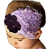 Susenstone®Girls Baby Light Purple Feather Hairband