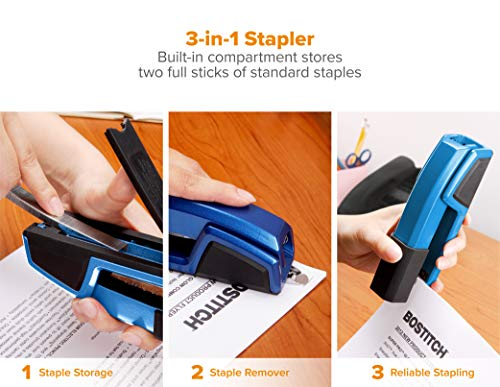 Bostitch Office 3 in 1 Antimicrobial Metal Stapler