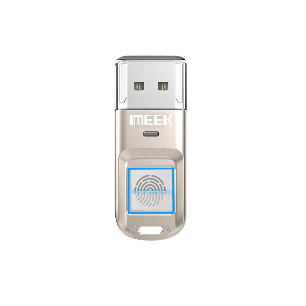 Imeek Fingerprint Encrypted Flash Drive 64gb Silver Flashdisk Addlink Otg Dual Usb 32gb Swivel Black Computers Accessories