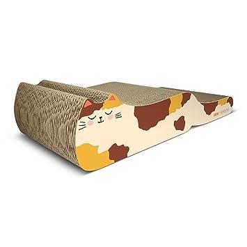 PLDDY Lujoso sofá de gato corrugado, gato de dibujos animados Scratcher, garras de gato