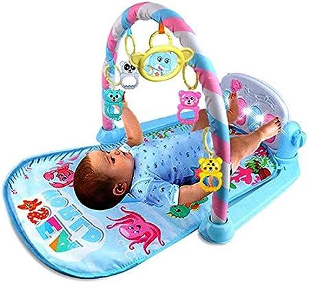 Baby Musical Mat con Sonido y Luz, Moderno Alfombra de Piano de Bebé para recién nacido, Amigos En El Parque Manta de Juego y Gimnasio Infantil con 100% Seguro y Cómodo para Edades de 1 a 36 Meses
