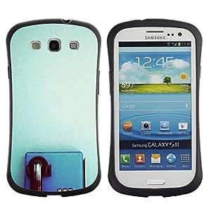 "Hypernova Slim Fit Dual Barniz Protector Caso Case Funda Para SAMSUNG Galaxy S3 III / i9300 / i747 [Azul Teléfono retro del trullo Clean minimalista""]"