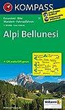 Alpi Bellunesi: Wanderkarte mit Radrouten. GPS-genau. 1:50000 (KOMPASS-Wanderkarten, Band 77)