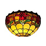 Amora Lighting Tiffany Style AM1056WL12 Tulips Wall Sconce Lamp 12-Inch Wide