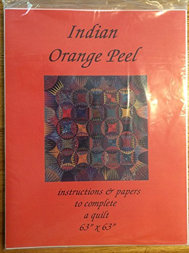 Karen Stone - Indian Orange Peel (Instructions and Papers to complete a quilt 63