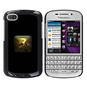 CASEX Cases / BlackBerry Q10 / R R0Ckstar Gaming # / Delgado Negro Plástico caso cubierta Shell Armor Funda Case Cover Slim Armor Defender
