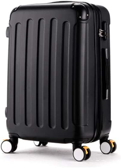 Guyuexuan Carry Suitcase Hard Case Black The Latest Style Simple Color : Black, Size : 26 20//22//24//26 Inches Simple and Rotating Suitcase