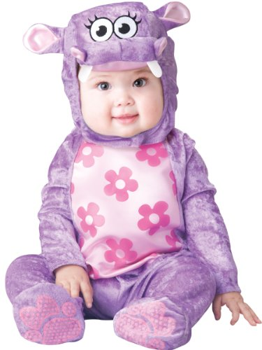 InCharacter Baby Girl's Huggable Hippo Costume, Purple, X-Small -