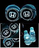logo honda - Bearfire Car Logo LED Cup Pad led cup coaster USB Charging Mat Luminescent Cup Pad LED Mat Interior Atmosphere Lamp Decoration Light (Honda)