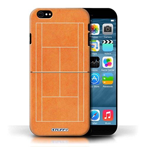 Kobalt® protector duro de nuevo caso / cubierta para el Apple iPhone 6/6S | Cancha de arcilla de color naranja Diseño | Canchas de tenis colección