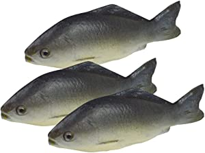 Transcend11 3pcs Simulated Small Fish Artificial Sea Fish Model Lifelike Fake Fish Home Party Market Display Kids Toy Kitchen Decoration Photography Props