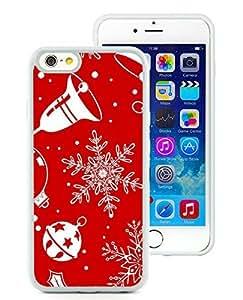 Custom Design iPhone 6 Case,Christmas Snowflake White iPhone 6 4.7 Inch TPU Case 2
