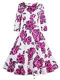 Search : Babyonlinedress Babyonline Floral Vintage Women Dresses Half Sleeve 1950s Rockabilly Party Gown
