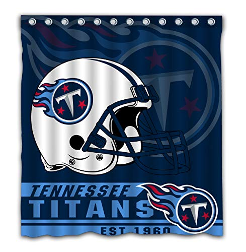 Felikey Custom Tennessee Titans Waterproof Shower Curtain with Color Bathroom Decoration Size of 66x72 Inches