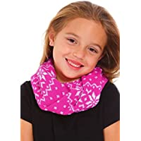Kids Boys Girls Winter Scarf Snowflake Patterned Knit Infinity Neck Warmer