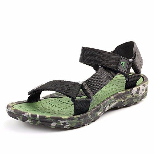 Il nuovo Camuffare Uomini sandali estate Tempo libero Spiaggia scarpa sandali traspirante Uomini scarpa tendenza ,verde,US=8,UK=7.5,EU=41 1/3,CN=42