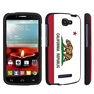 DuroCase ? Alcatel OneTouch Fierce 2 7040T (2014 Released) Hard Case Black - (California Flag)