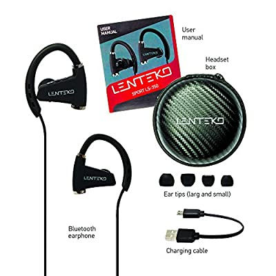 Bluetooth V4.1+EDR Headphones LENTEKO SPORT LS-350, Wireless Headphones for Running Ideal for Sport, IPX7 Waterproof & Sweatproof In Ear Earbuds with Long Battery Life, Workout for iPhone and Android