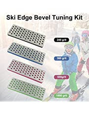 Kit de Ajuste de Bisel de Borde de esquí, 4PCS Snowboard Kit de Ajuste de Bisel de Borde de esquí Kit de Cuidado de Borde - Herramienta de ángulo Lateral