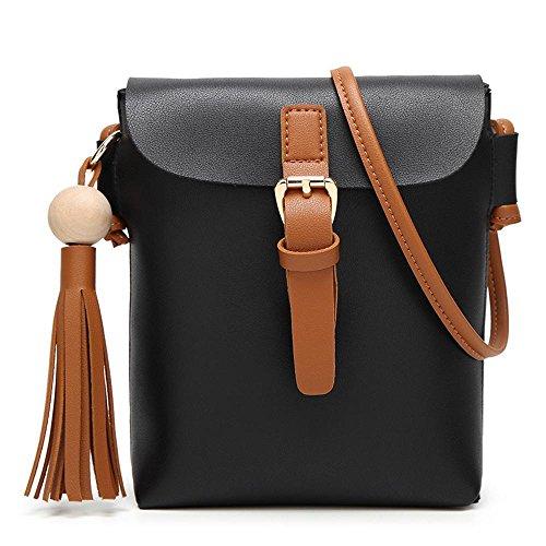 Aoligei Dame seule épaule tassel sac mobile mode décontractée Mesdames mini petit côté pack A